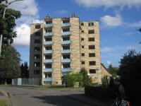 Wohnraum: Hochhaus Ostlandstraße, abgerissen 2005