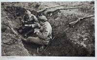 1. Weltkrieg, Feldpostkarte, kriegsmüde