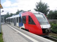 Bahnhof Wahlstedt, Zug von Bad Oldesloe nach Neumünster